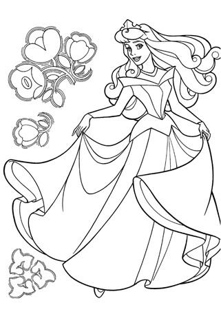 Dibujo de Princesa bailando  Dibujos de Princesas para Pintar