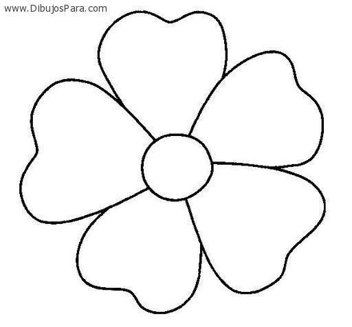 Dibujo de Flor de cinco petalos | Dibujos de Flores para Pintar ...