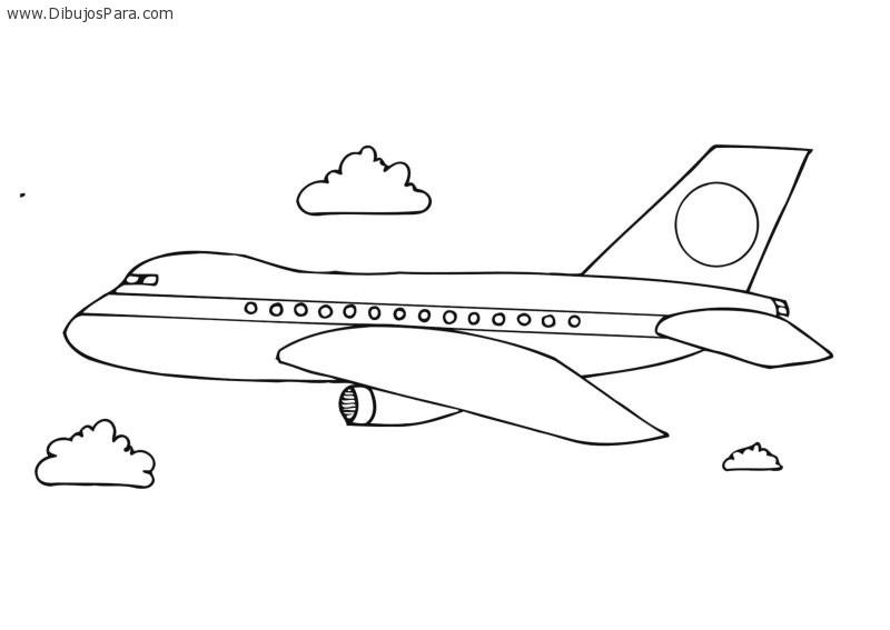 Dibujo de Avion de Pasajeros | Dibujos de Aviones para Pintar ...