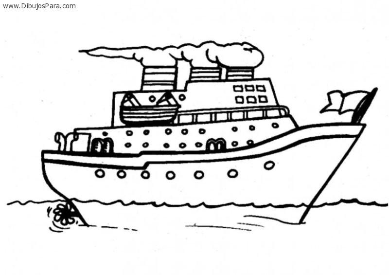 Dibujo De Barco Crucero Dibujos Para Colorear