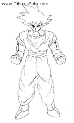 Worksheet. Dibujo de Goku para colorear  Dibujos de Dragon Ball Z para