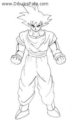 Dibujo De Goku Para Colorear Dibujos Para Colorear