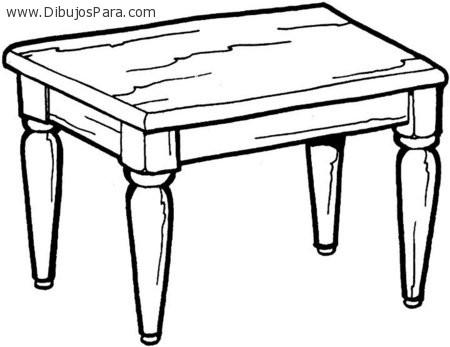 Dibujo de mesa antigua dibujos de mesas para pintar for Mesa de luz para dibujo