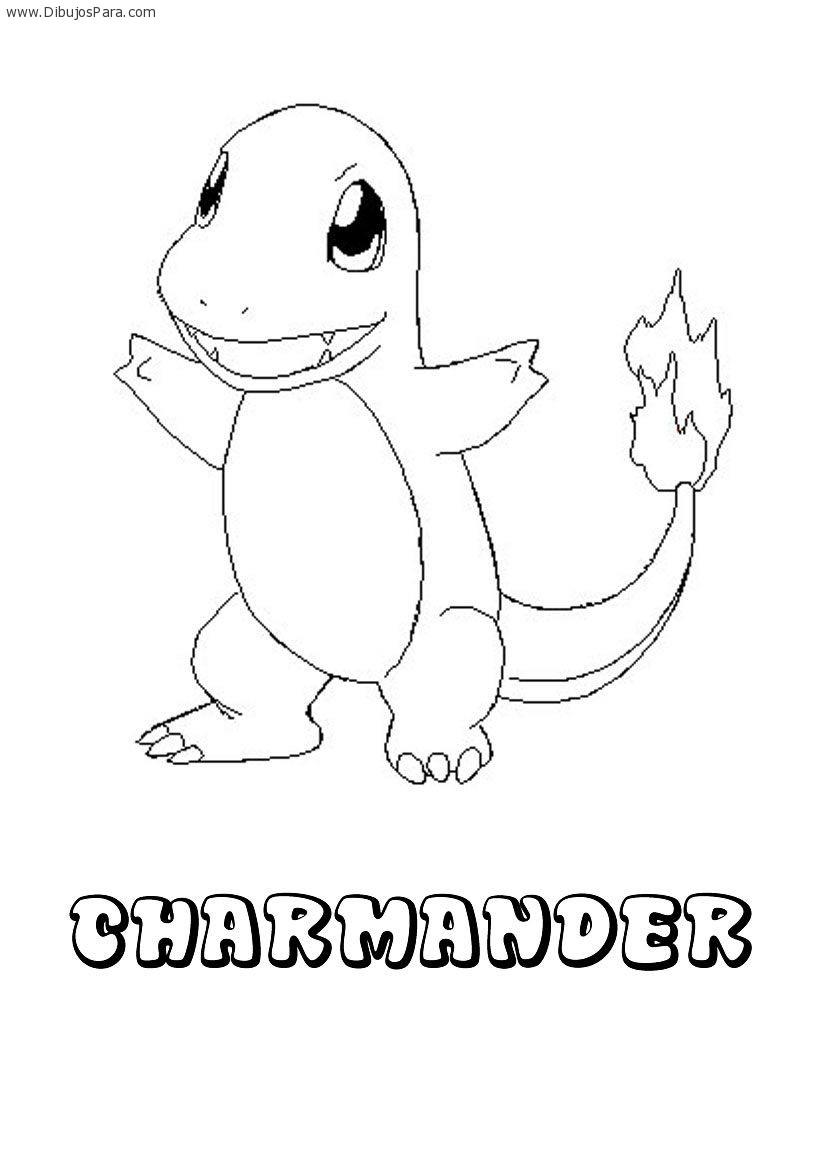 Dibujo de Pokemon Charmander   Dibujos de Pokemon para Pintar ...
