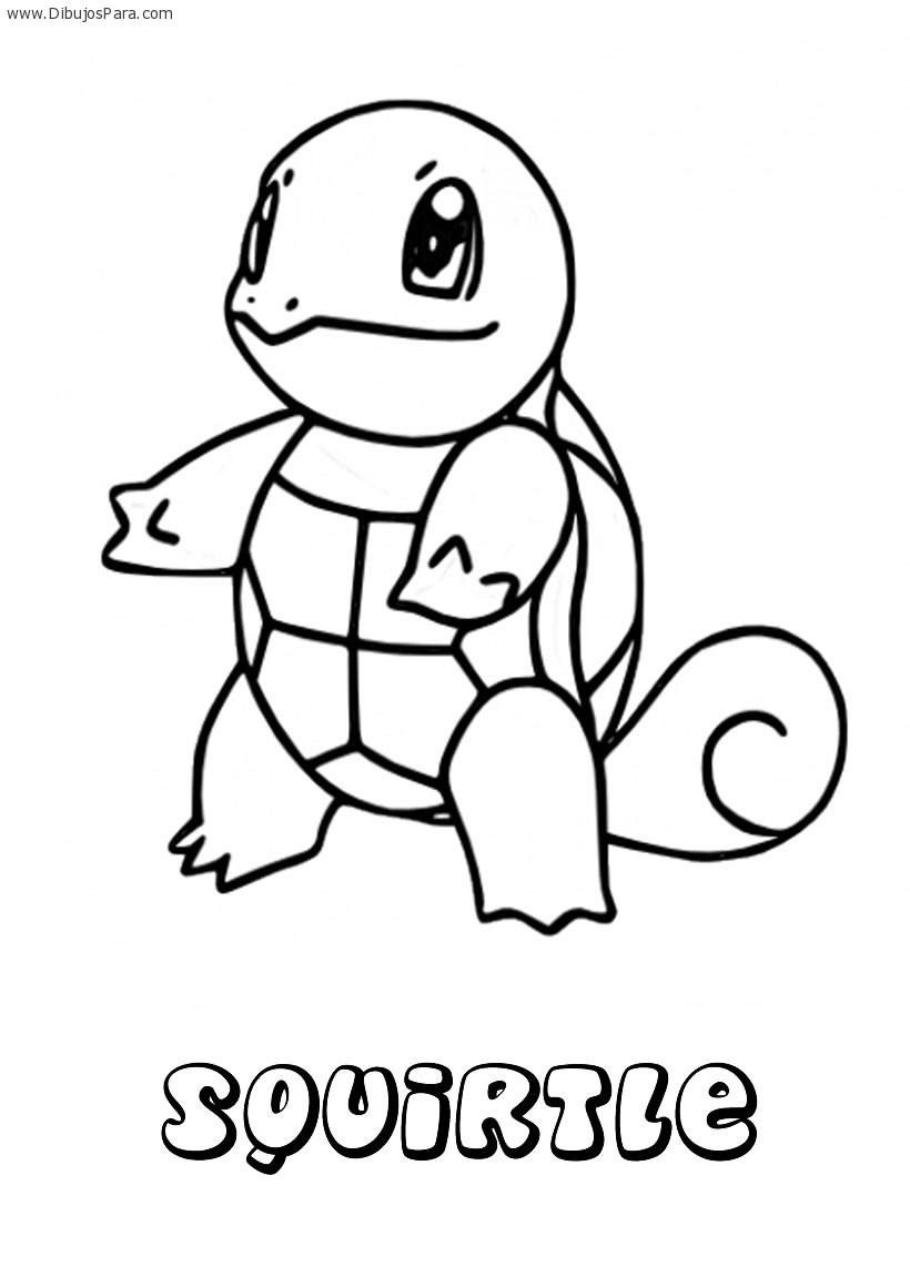 Dibujo de Squirtle | Dibujos de Pokemon para Pintar | Dibujos para ...