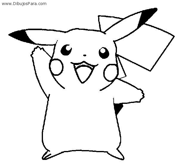 Dibujo de Pikachu saludando  Dibujos de Pokemon para ...