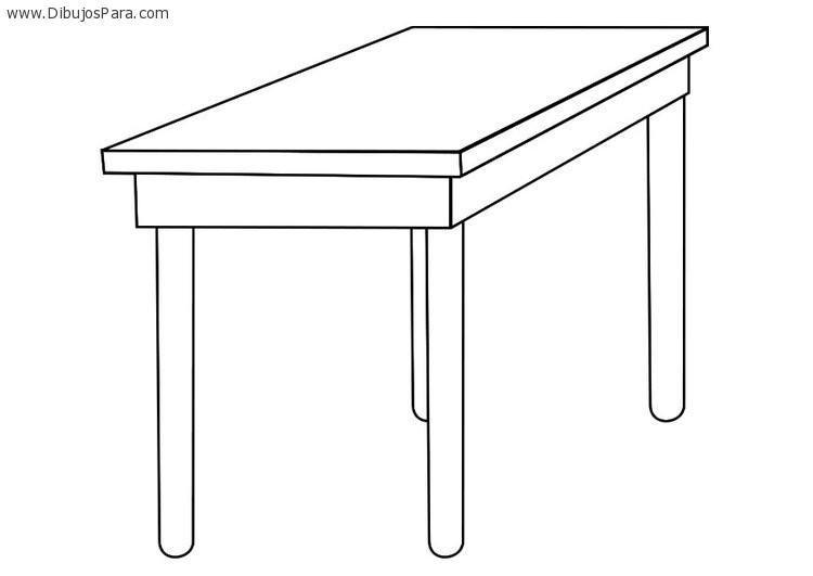 Dibujo de mesa clasica de madera dibujos de mesas para - Mesa de dibujo portatil ...