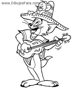 Dibujo De Tom Y Jerry Musicos Dibujos Para Colorear