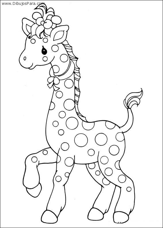 Dibujo De Jirafa Infantil Para Colorear Dibujos Para Colorear