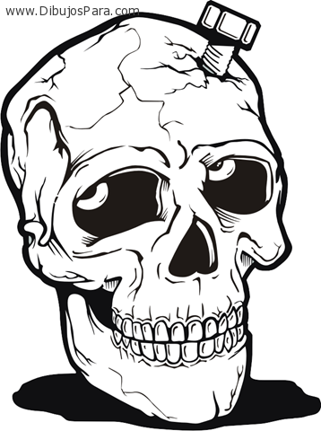 Dibujo de Calavera para colorear  Dibujos de Calaveras para