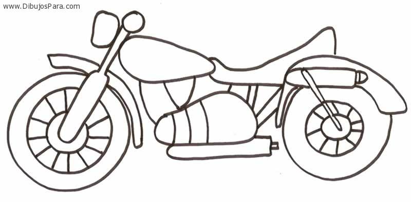 Dibujo de Moto antigua  Dibujos de Motos para Pintar  Dibujos