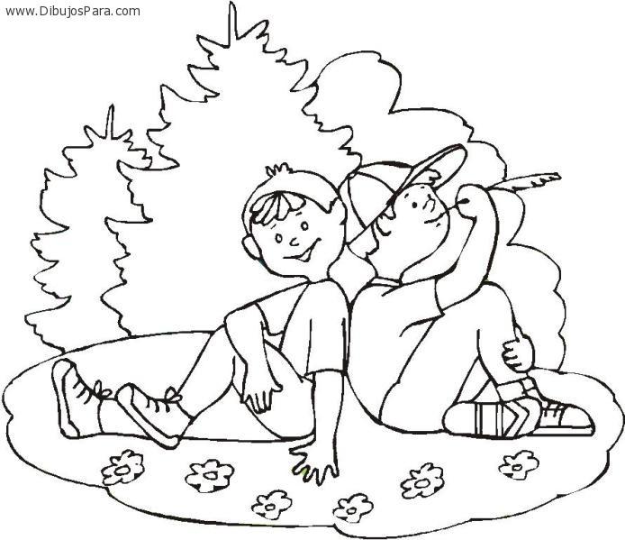 Dibujo para el dia del amigo | Dibujos de Amigos para Pintar ...