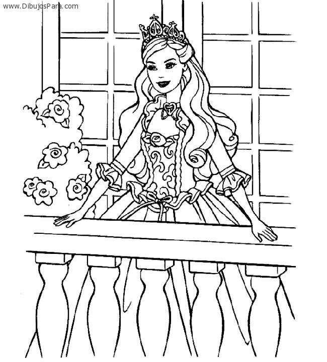Dibujo de Barbie princesa | Dibujos de Barbie para Pintar | Dibujos ...