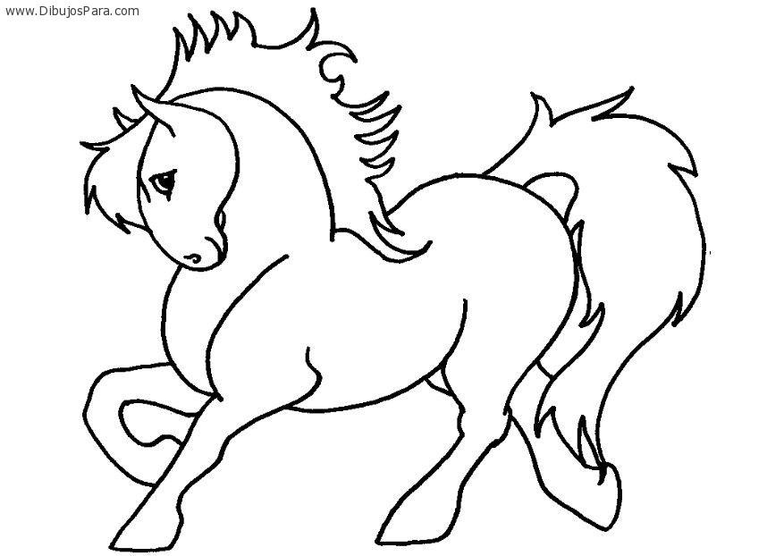 dibujos de caballos para colorear | Dibujos para Colorear