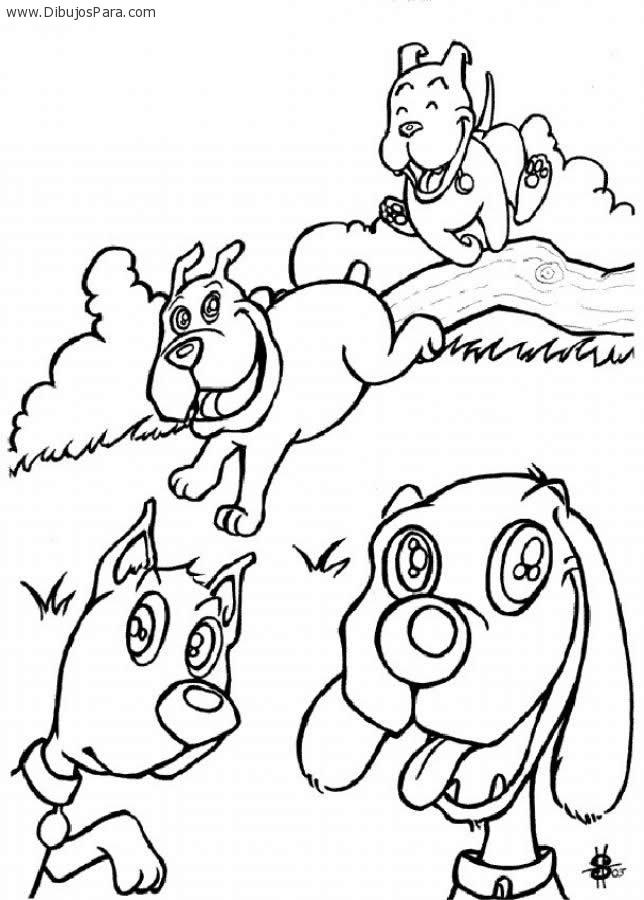 Dibujo de Perros jugando | Dibujos de Perros para Pintar | Dibujos ...
