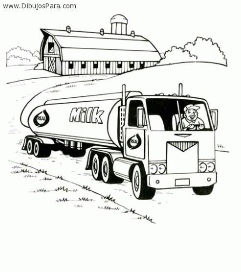 Dibujo de Camion de leche | Dibujos de Camiones para Pintar ...