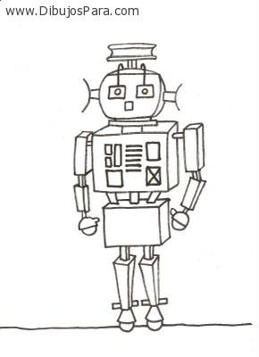 Dibujo De Robot Dibujos Para Colorear