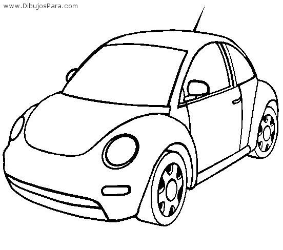 Dibujos para Colorear » Blog Archive » Dibujo de Auto VW Beetle