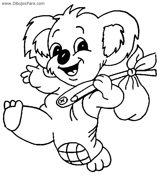 Dibujo de Koala feliz | Dibujos de Animales para Pintar | Dibujos ...