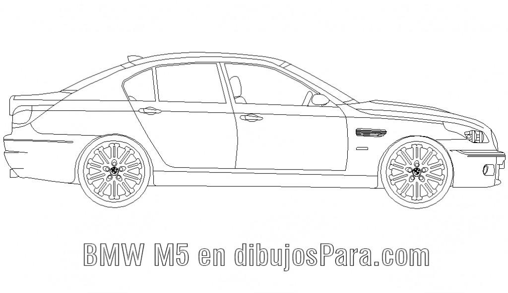 Auto BMW M5 para colorear  Dibujos de Autos para Pintar ...