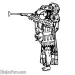 Dibujo de Heraldo Medieval Para Colorear