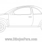 Dibujo de Auto Ford Ka