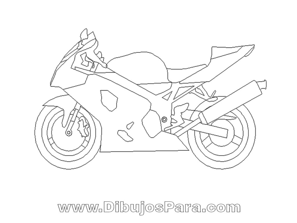 Dibujo de Moto Deportiva | Dibujos de Motos para Pintar | Dibujos ...