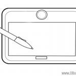 Dibujo de Tablet
