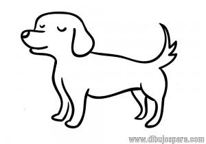 Dibujo de Perro fácil para colorear