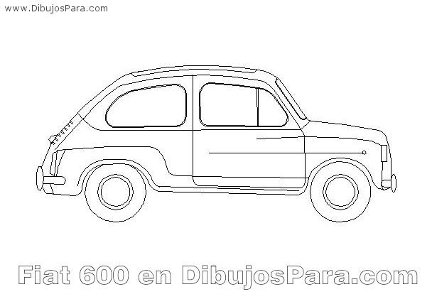 Fiat 600 para colorear  para Pintar  Dibujos para Colorear