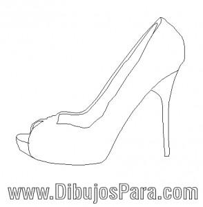 Dibujo de Zapato de Mujer de Fiesta