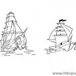 Dibujo de Barcos Piratas