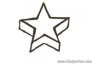 Dibujo de Estrella en perspectiva
