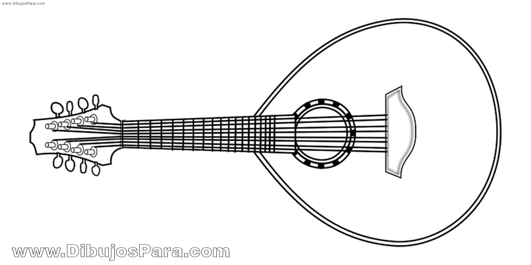 Dibujo de Laúd | Dibujos de Instrumentos para Pintar | Dibujos para ...