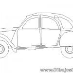 Dibujo de Auto Citroen 2CV