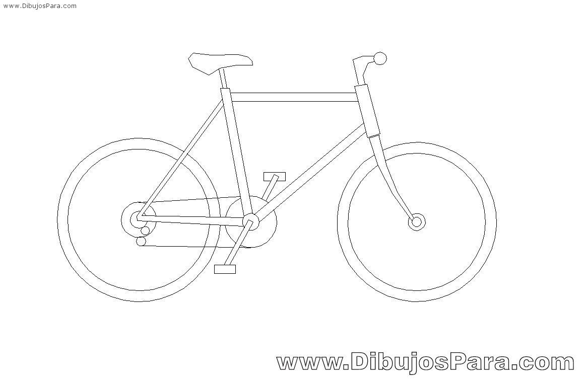 Dibujo de Bicicleta fácil | Dibujos de Bicicletas para Pintar ...