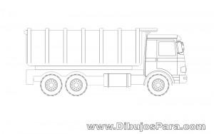Dibujo de Camión de la Basura