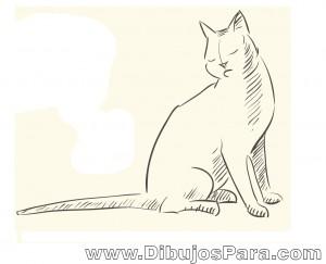 Dibujo de Gato sentado
