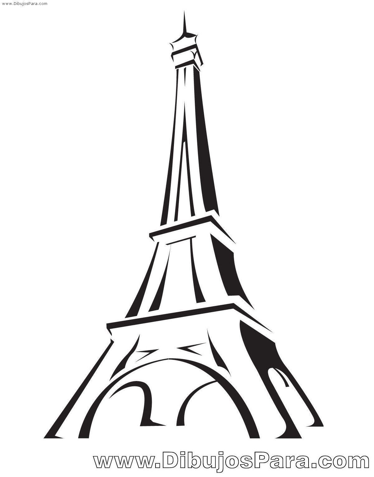 Top torre eiffel para colorear images for pinterest tattoos for Torre enfel