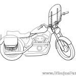 Dibujo de Moto con Parabrisas