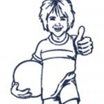 Dibujo de Niño deportista