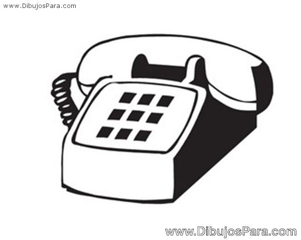 Dibujo De Telefono Antiguo