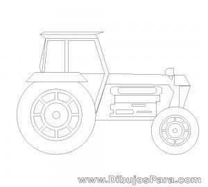 Dibujo de Tractor