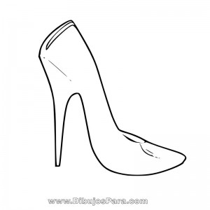 Dibujo de Zapato de Mujer sencillo