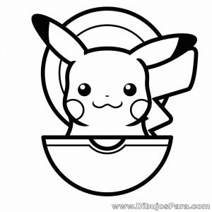 Dibujo de Pikachu en pokebola