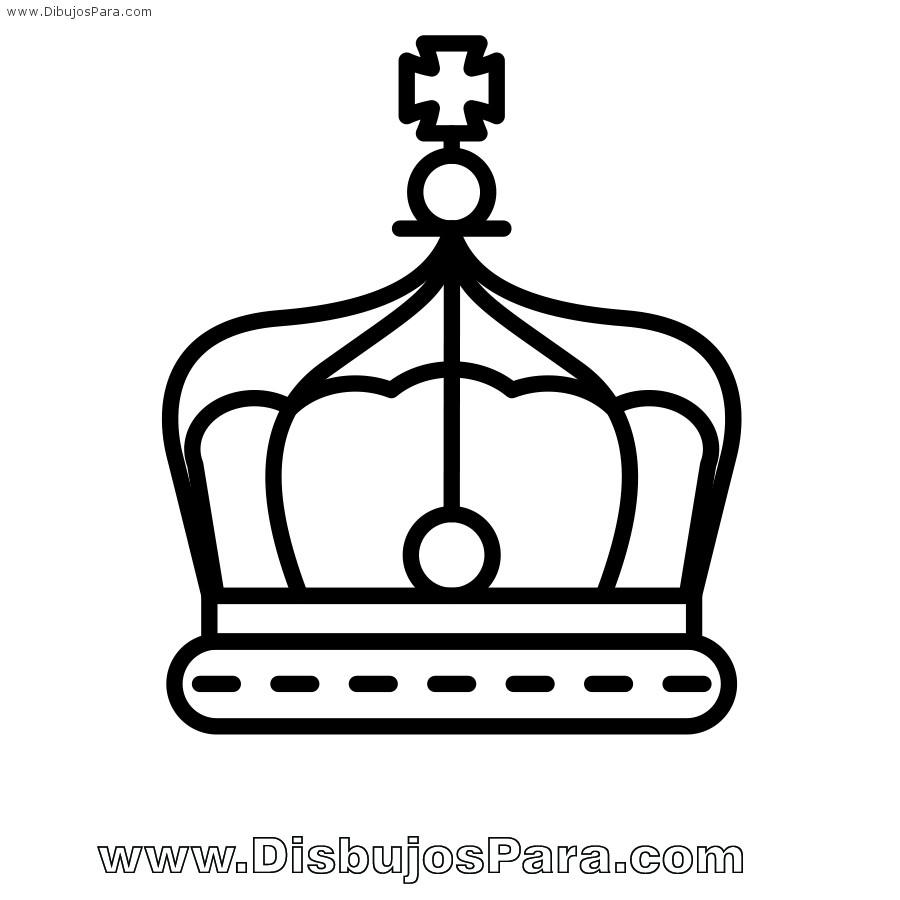 Dibujo de Corona de Rey  para Pintar  Dibujos para Colorear