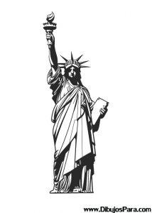Dibujo de Estatua de la Libertad