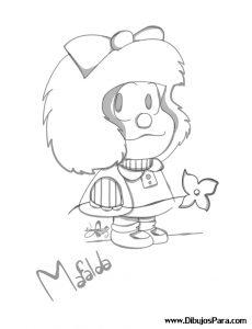 Dibujo de Mafalda