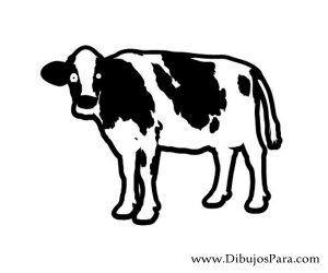 Dibujo de Vaca fácil para pintar gratis