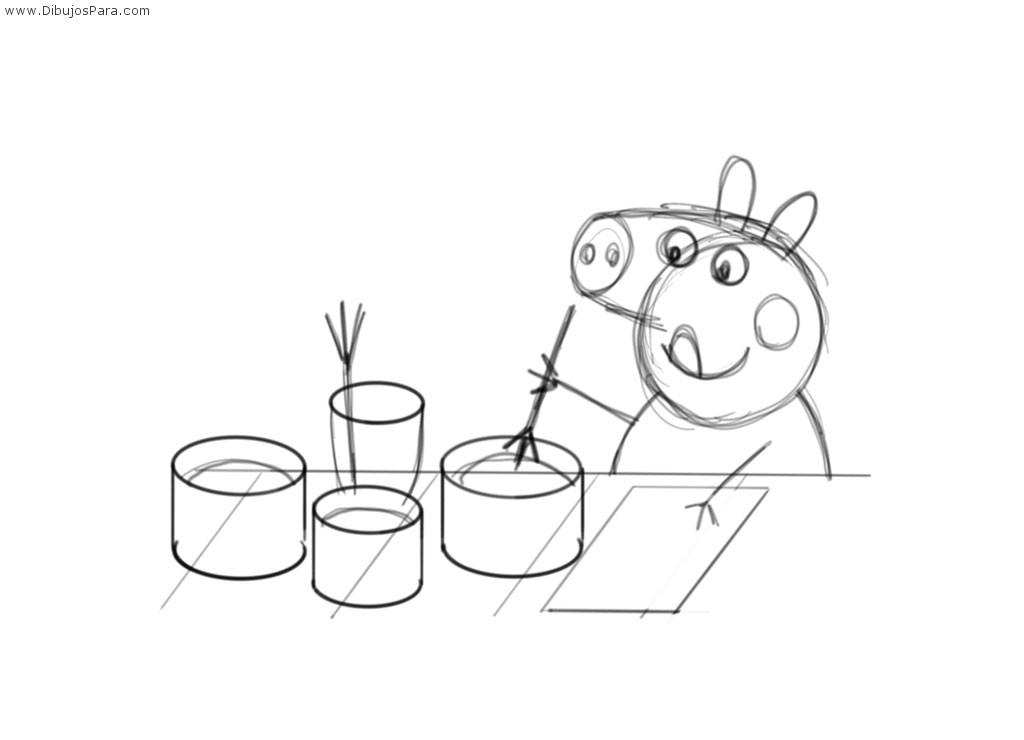 Peppa Pig fácil para Colorear
